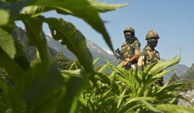 Enfrentamientos entre soldados de China e India