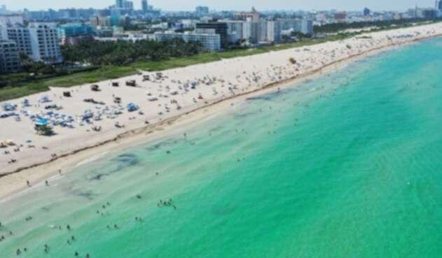 Playas de Miami Beach en plena pandemia