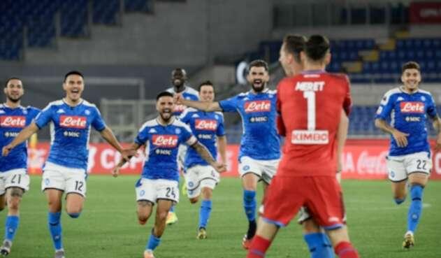 Napoli campeón de Copa de Italia