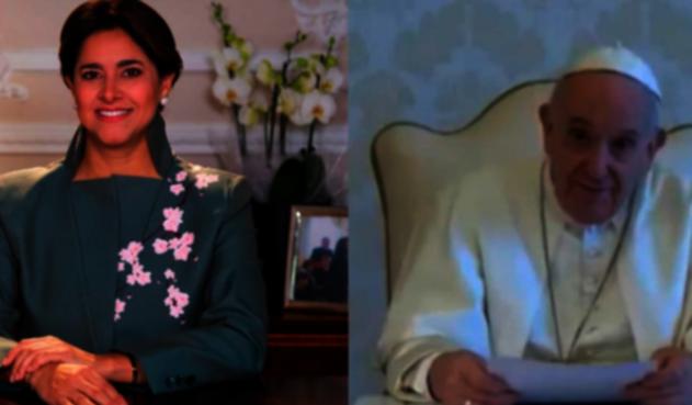 Papa Francisco y Primera Dama