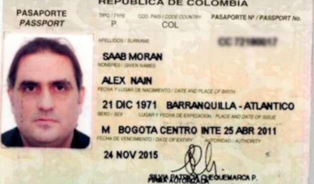 Pasaporte de Álex Saab