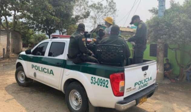 Agresión a uniformados en Ponedera (Atlántico)
