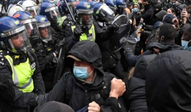 Protestas en Londres por George Floyd