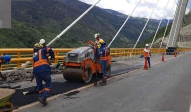 El puente Hisgaura es uno de los más altos de Colombia.