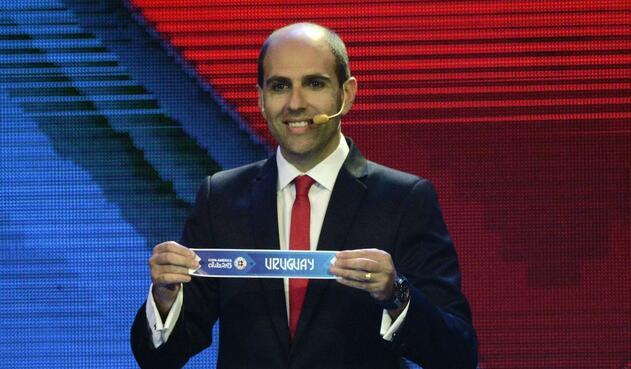 Sergio Jadue en el sorteo de la Copa América 2015