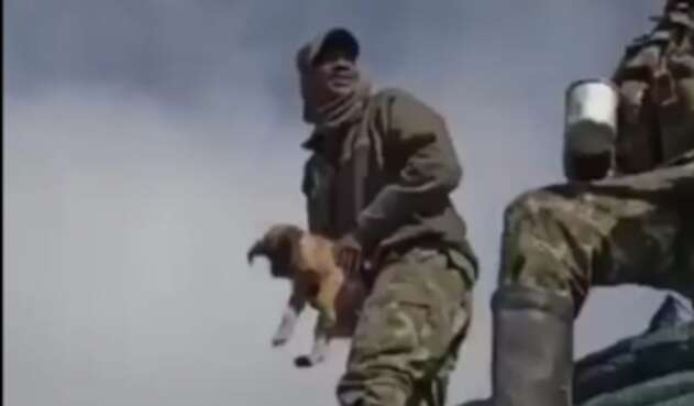 Los soldados quedaron en evidencia en le video grabado por ellso mismos