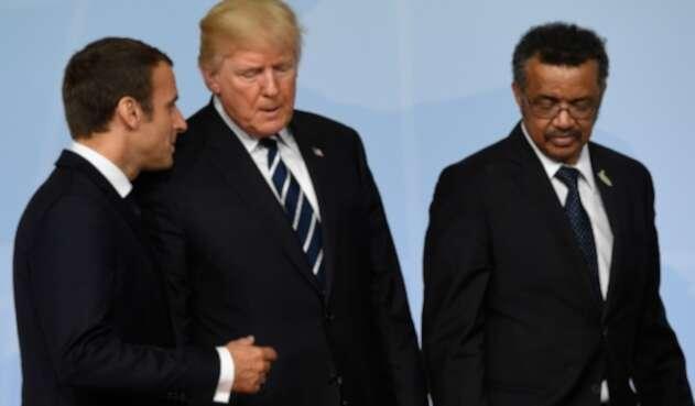 Donald Trump y Tedros Adhanom Ghebreyesus, de la OMS