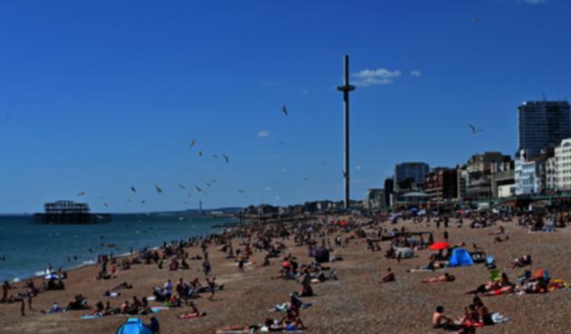 Playas en el Reino Unido en tiempo de pandemia