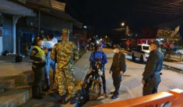 Referencia policías en Chocó.