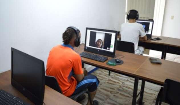 Así se registran las visitas virtuales en la cárcel de Cali (Valle del Cauca)