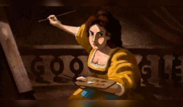 Doogle de Artemisia Gentileschi