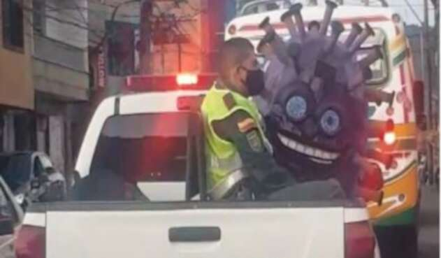 La 'captura' del Covid que se hizo viral en Colombia