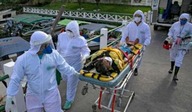 Pacientes contagiados de coronavirus en Brasil