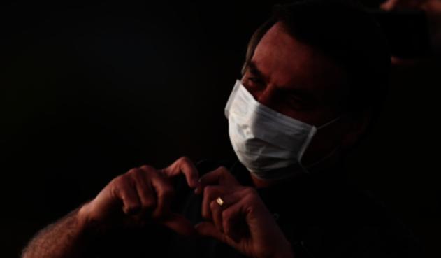 Jair Bolsonaro con coronavirus