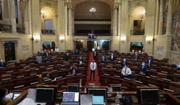 Plenaria semipresencial de la Cámara en medio de pandemia.