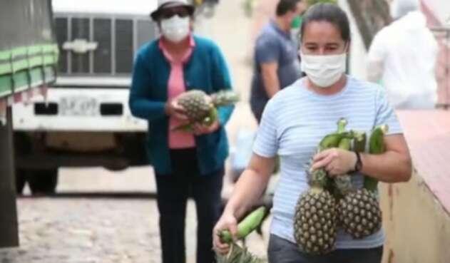 Hacen truque de reciclaje por frutas
