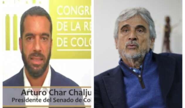 Arturo Char e Iván Marulanda, candidatos a la Presidencia del Senado