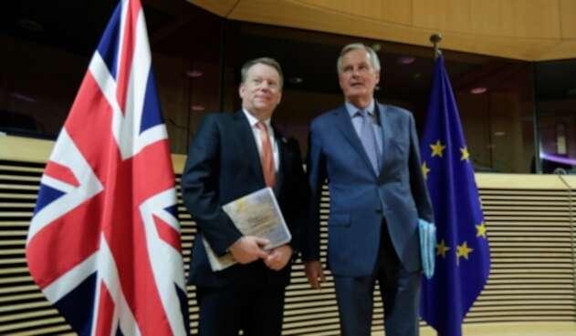 David Frost y Michel Bernier, negociadores de acuerdo posbrexit