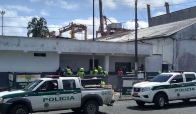 """Estación de Policías """"Marte"""" en Buenaventura."""