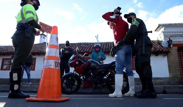 La Policía puso en marcha un dispositivo de seguridad para blindar el norte de Bogotá.