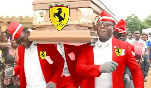 Los memes del choque de los dos carros de Ferrari en la Fórmula 1