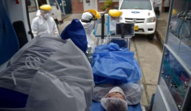 Pacientes contagiados de coronavirus en Bogotá