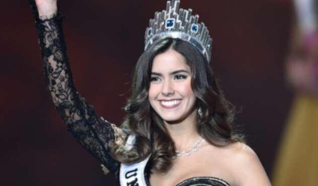 Paulina Vega cuando fue elegida Miss Universo