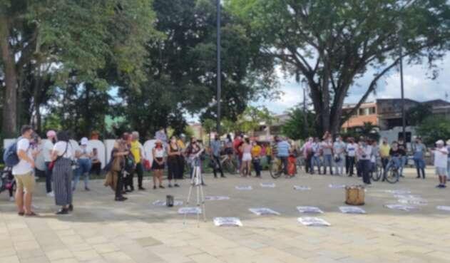 Protesta Colectivos Feministas Tebaida, Quindío