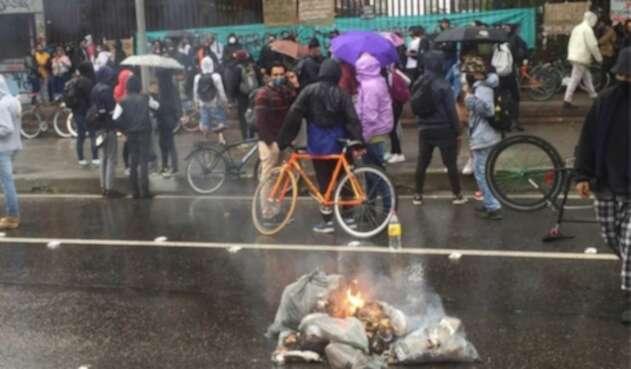 Protestas en la Universidad Pedagógica 6 de julio de 2020