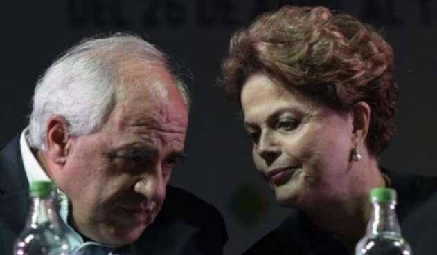 Ernesto Samper y Dilma Rousseff