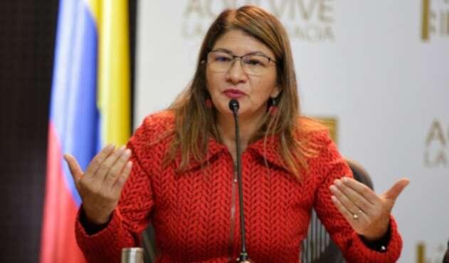 La senadora Sandra Ramírez, del partido Farc
