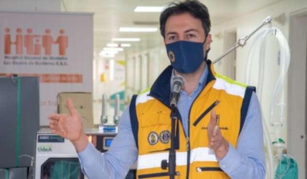 El alcalde de Medellín, Daniel Quintero.