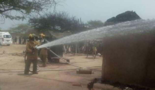 Incendio en vivienda en Manaure