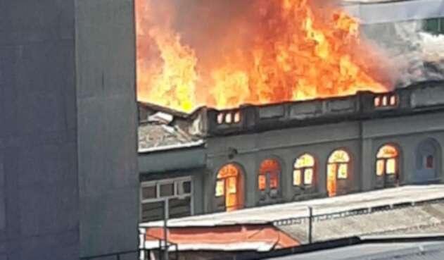 Incendio en centro de Pereira