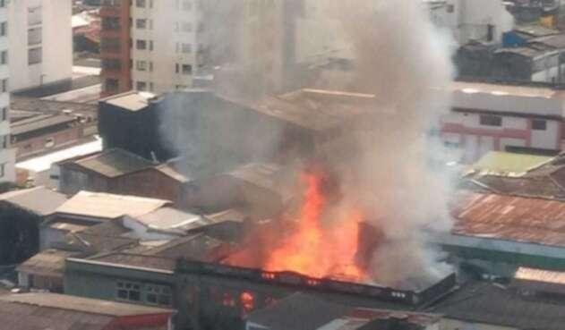 Incendio en el centro de Pereira