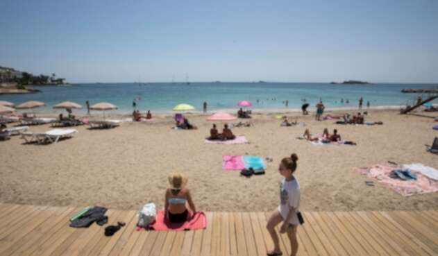 Playa en España, covid-19