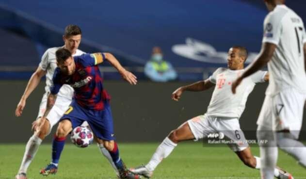 Thiago Alcántara y Lionel Messi