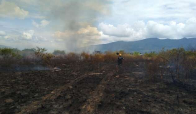 Incendio Forestal en Chinauta (Cundinamarca)