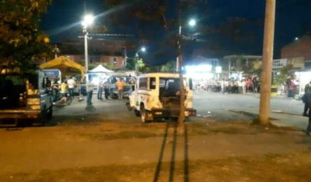 El hecho se presentó frente a un CAI de la Policía del barrio Llano Verde y dejó a varias personas heridas.