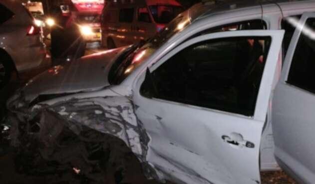 Accidente en vía Cota, en La Conejera