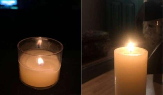 Bogotanos enciende una vela
