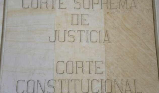 Corte Constitucional y Corte Suprema de Justicia