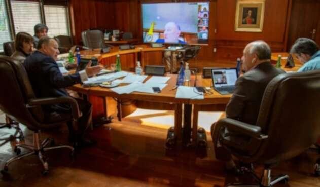 Corte Constitucional sesionando virtual