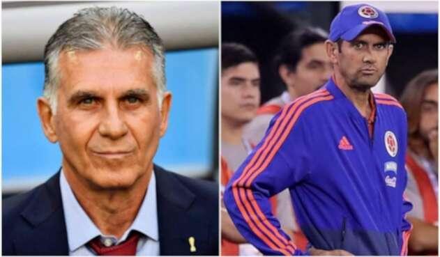 Carlos Queiroz y Arturo Reyes