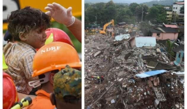 Derrumbe de edificio en India