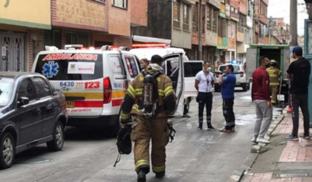 Explosión de caneca con químicos en Bogotá