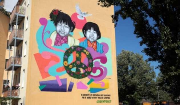 Freethinker desvela mural en Berlín en el aniversario de Hiroshima y Nagasaki