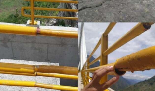 Puente afectado, constructora responde