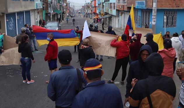 Protestas en Ciudad Bolívar por falta de ayudas