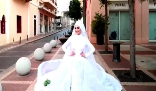 Impresionante explosión en Beirut quedó registrada en el video de una novia